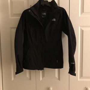 North Face jacket with hood.